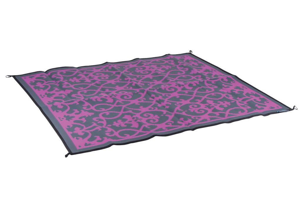 Bo-Leisure buitenkleed (200x180 cm), Roze met grijs