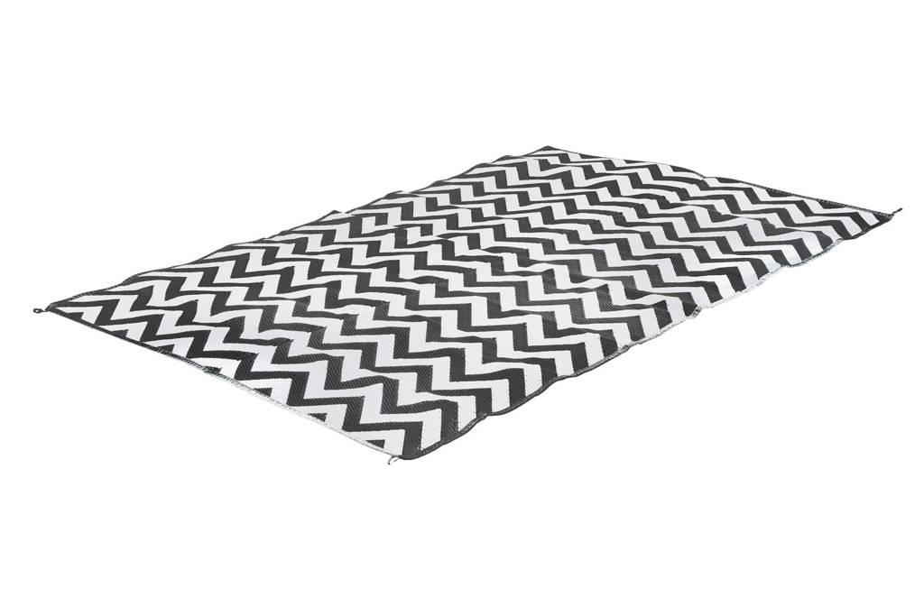 Bo-Camp buitenkleed (200x180 cm), Zwart met wit