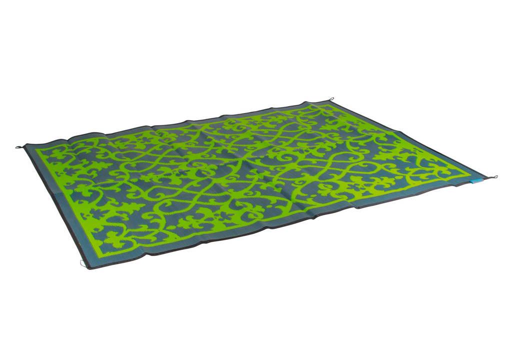 Bo-Camp buitenkleed (270x200 cm), Groen met grijs