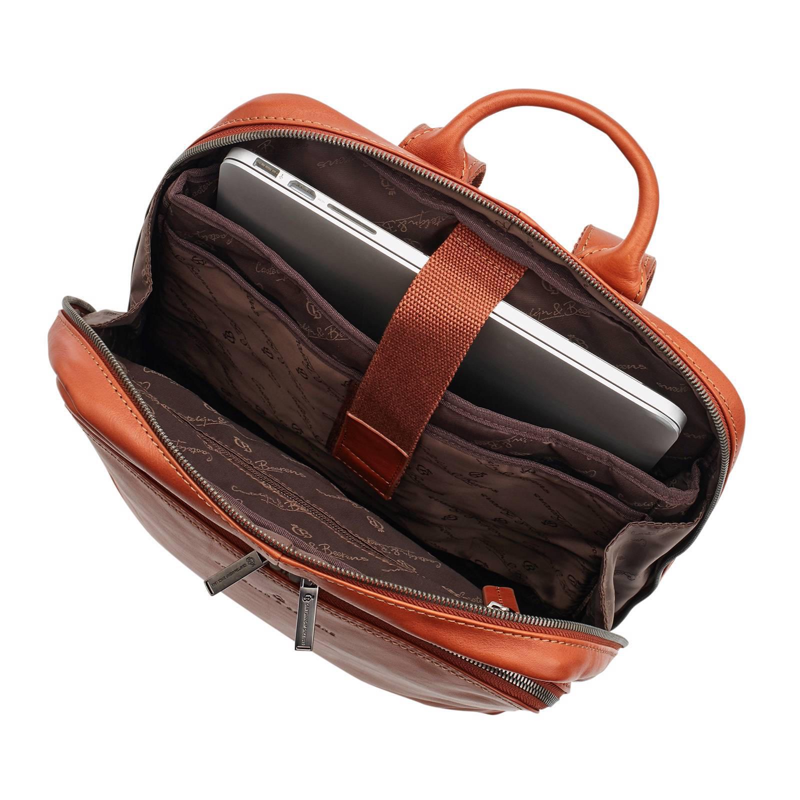 3fbd8168082 Castelijn & Beerens 15,6 inch leren laptop rugzak | wehkamp
