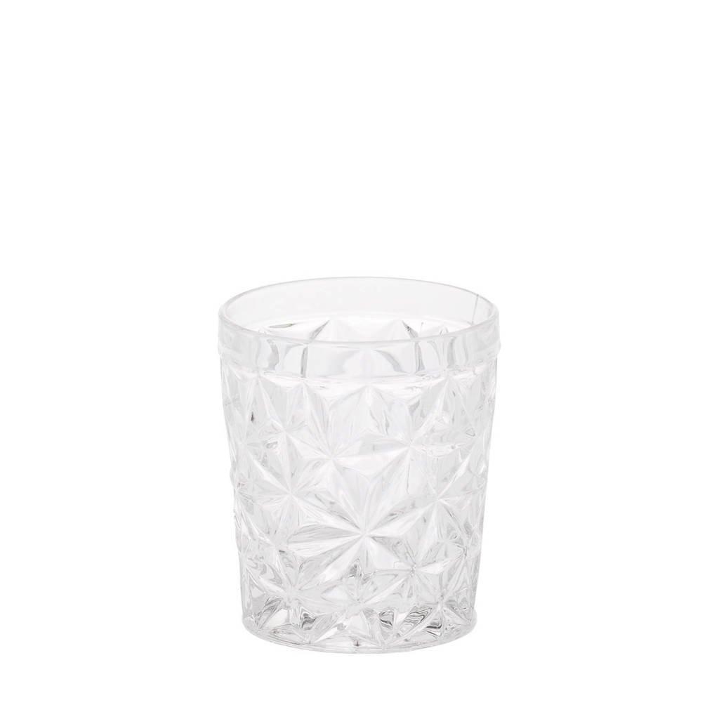 Riverdale Star waterglas (Ø9 cm), Transparant
