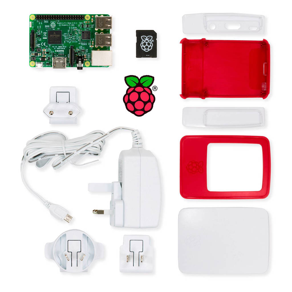 Raspberry Pi 3 Essential Kit model B, Zwart