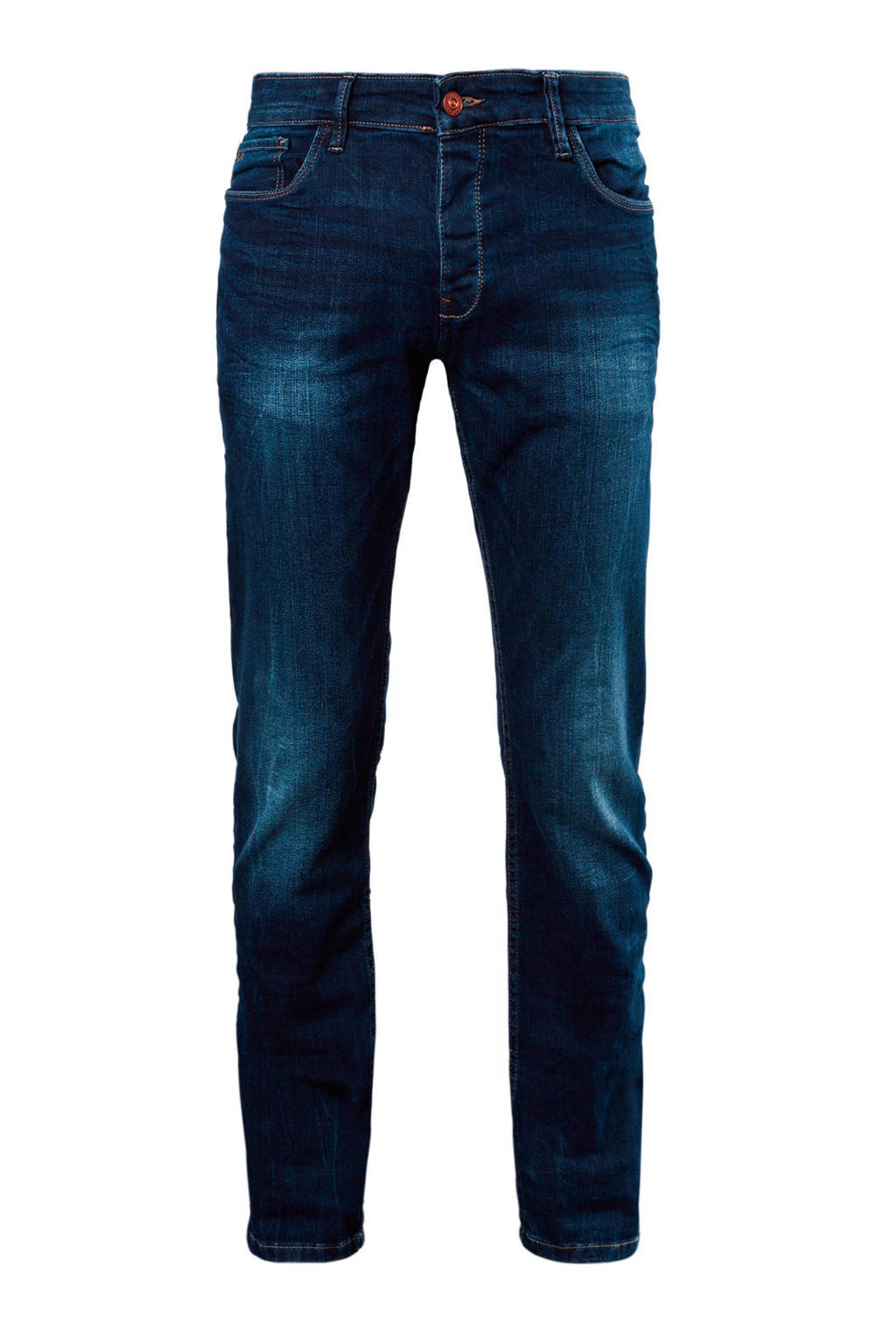 Q/S designed by  slim jeans, Donkerblauw