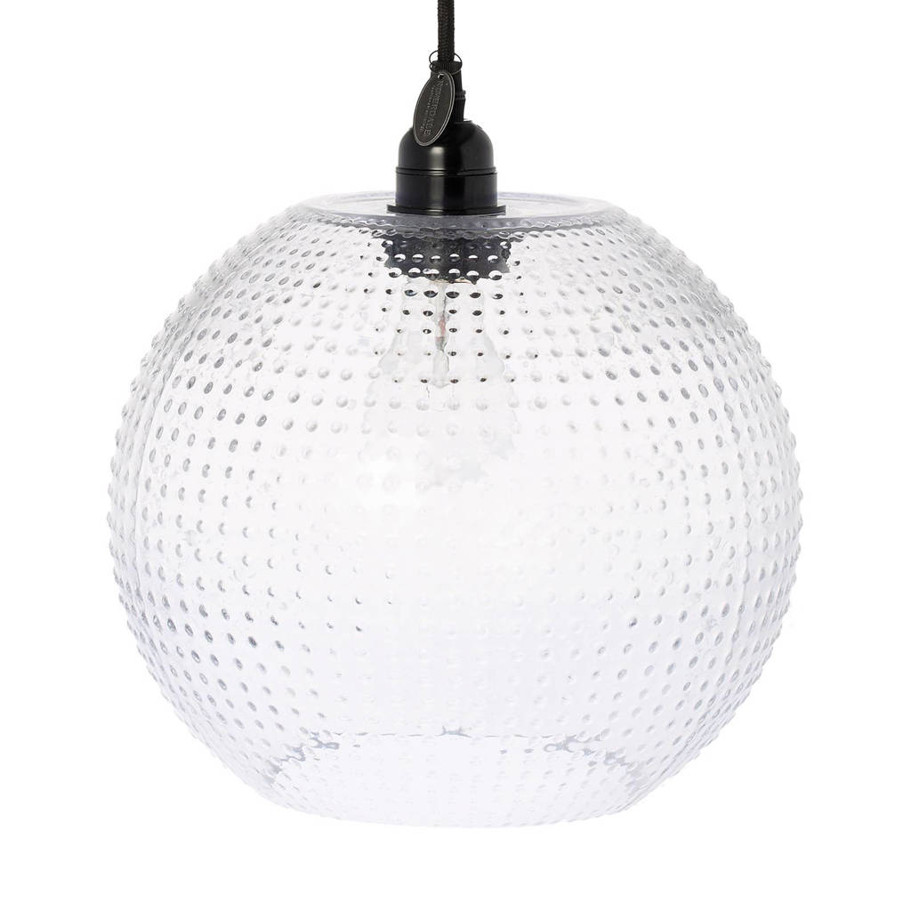 Riverdale hanglamp Vernon, XL, Transparant