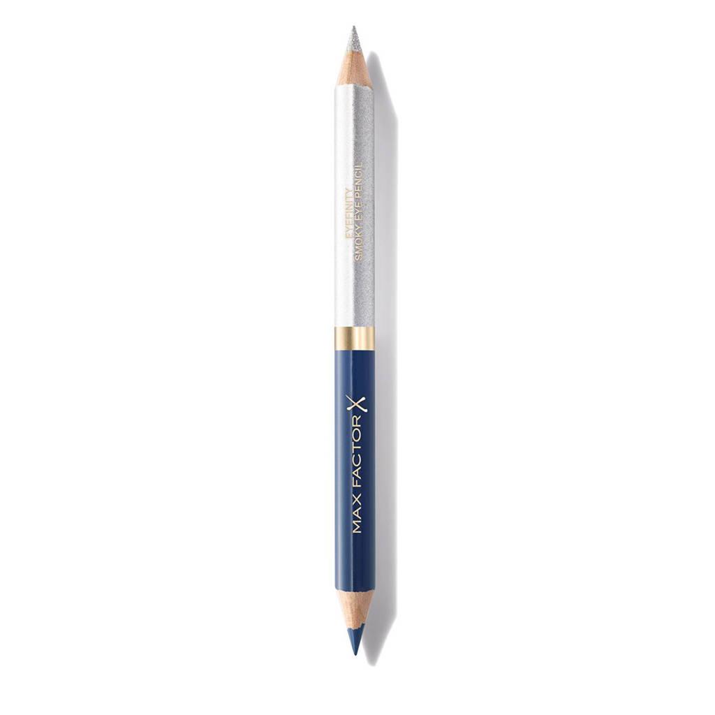 Max Factor Eyefinity Smokey oogpotlood - 4 Persian Blue / Radiant Silver