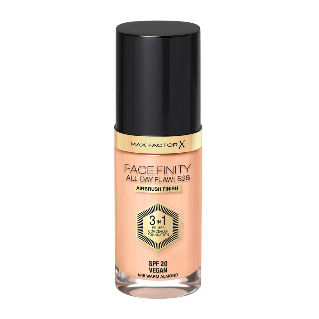 Max Factor Facefinity All Day Flawless 3-in-1 Liquid Foundation - 45 Warm Almond