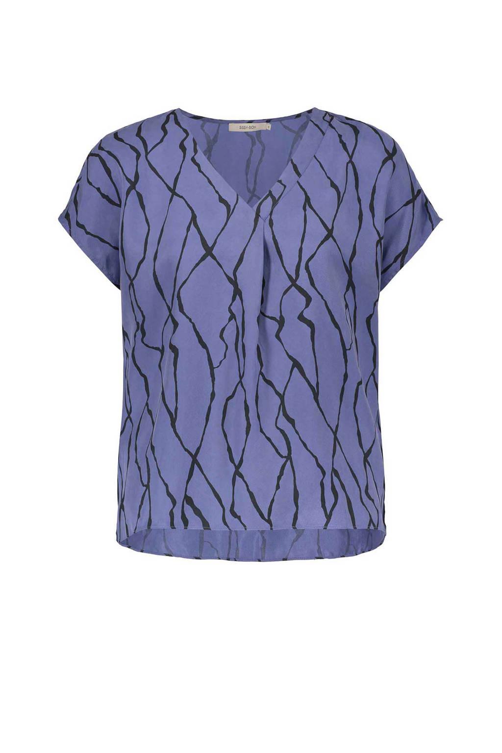 Sissy-Boy loose fit top, lavendel blauw