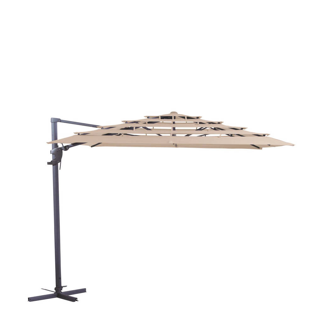 Madison parasol Monaco Open Air (300x300 cm), Ecru