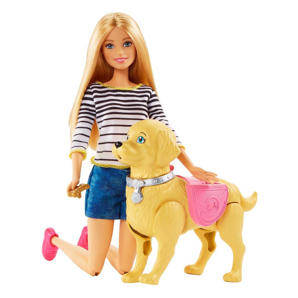 Barbie Family met puppy