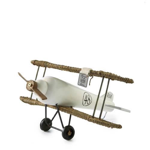 Rivi�ra Maison Rustic Rattan Ornament Ecru 30 x 30 cm Vliegtuig