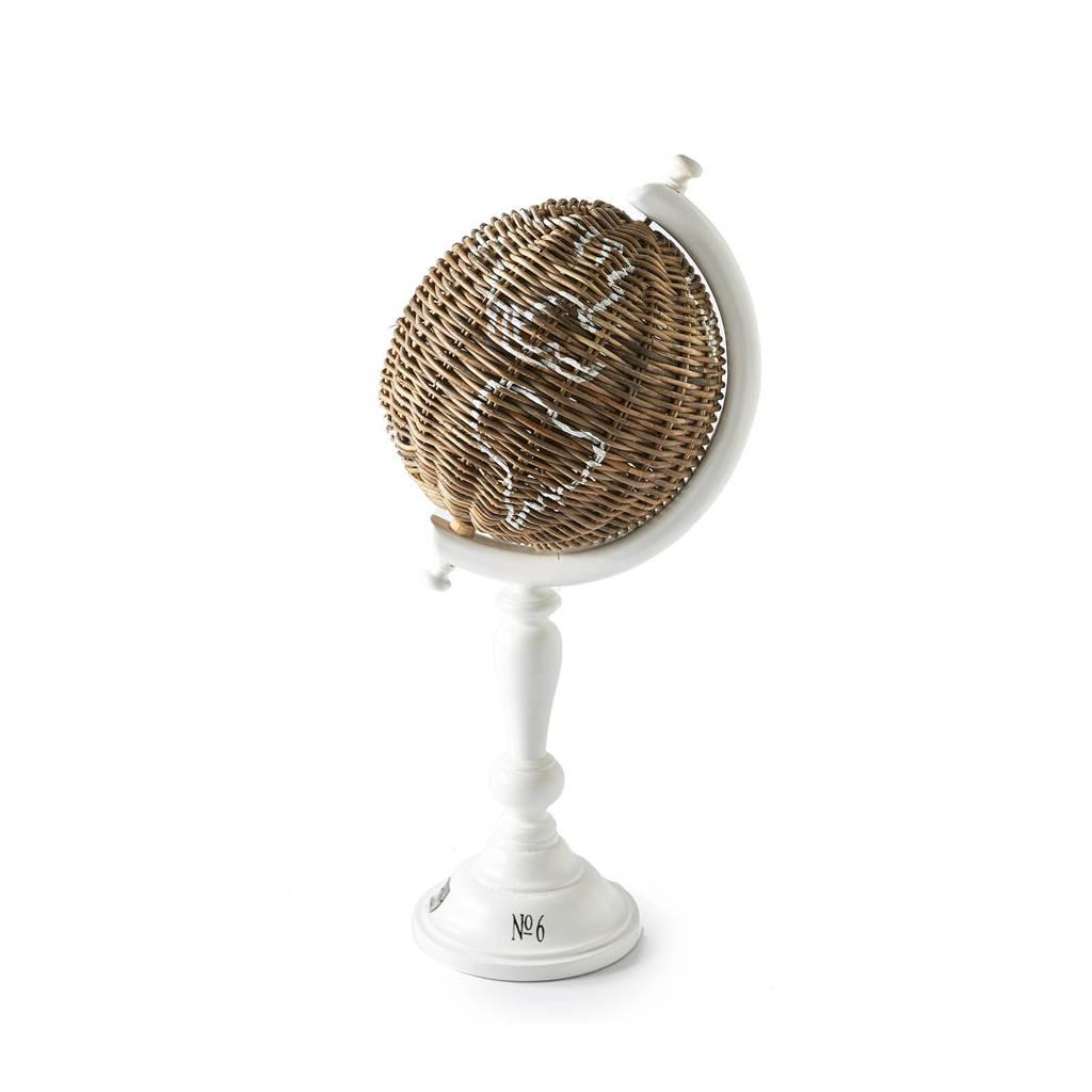 Riviera Maison ornament RR Globe, Bruin/wit