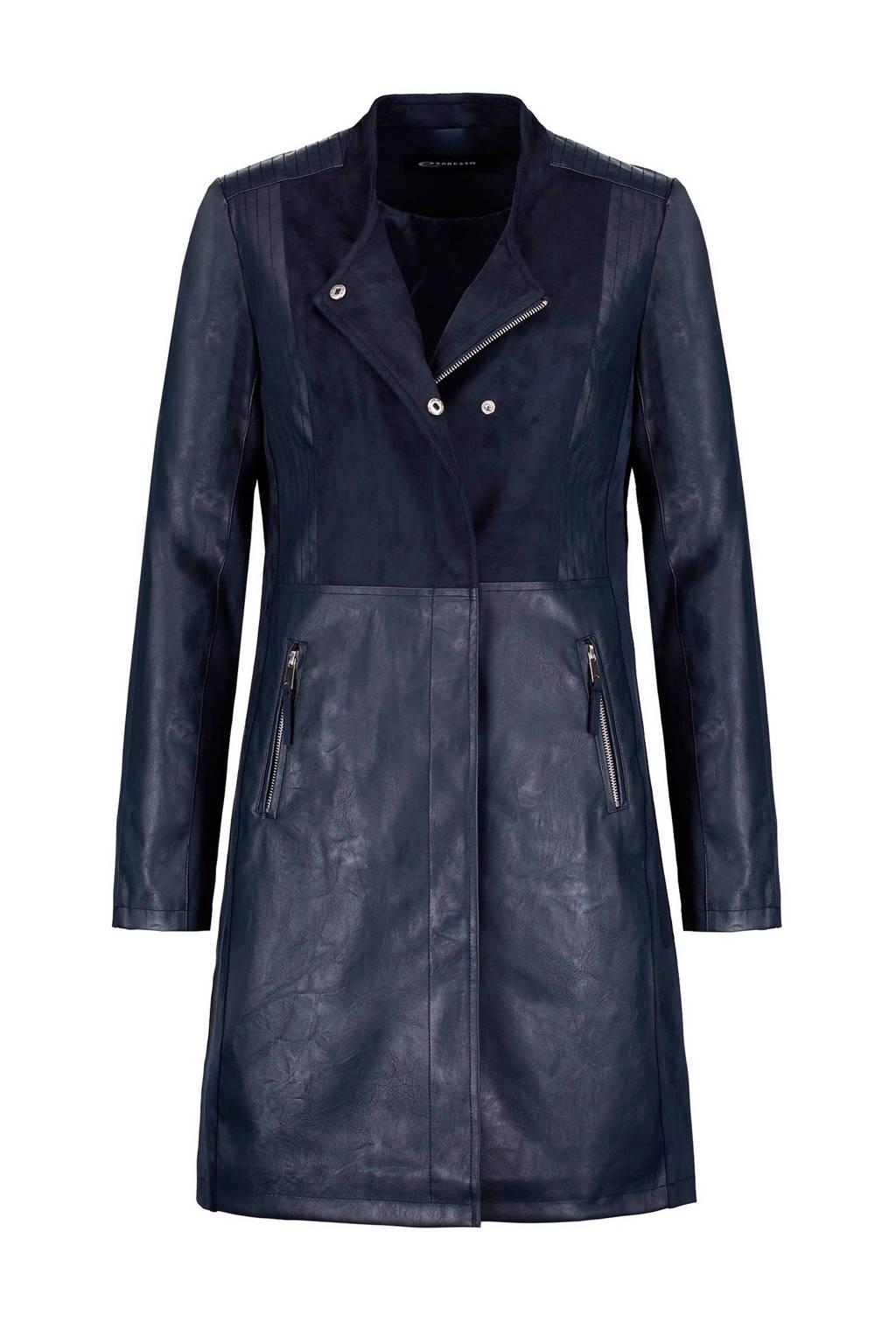 Expresso jas, Donkerblauw
