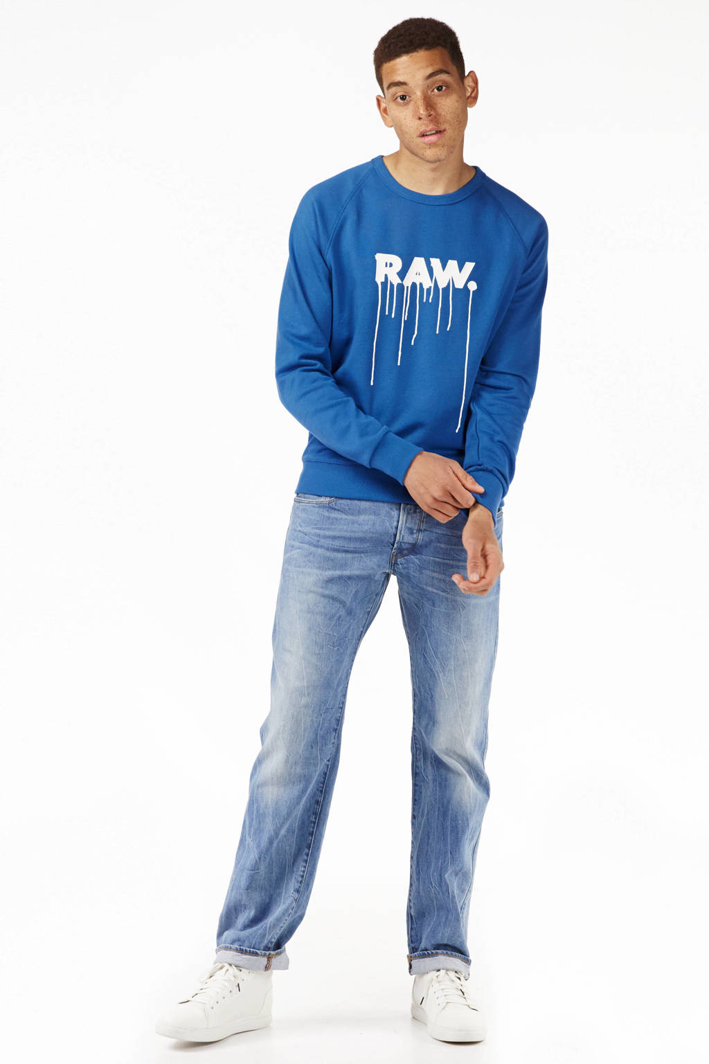 G-Star RAW straight fit jeans 3301, Medium aged denim