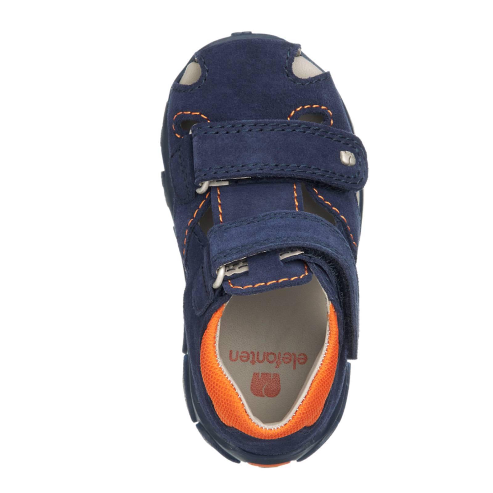 Blauwe suede sandaal klittenband Elefanten maat 22