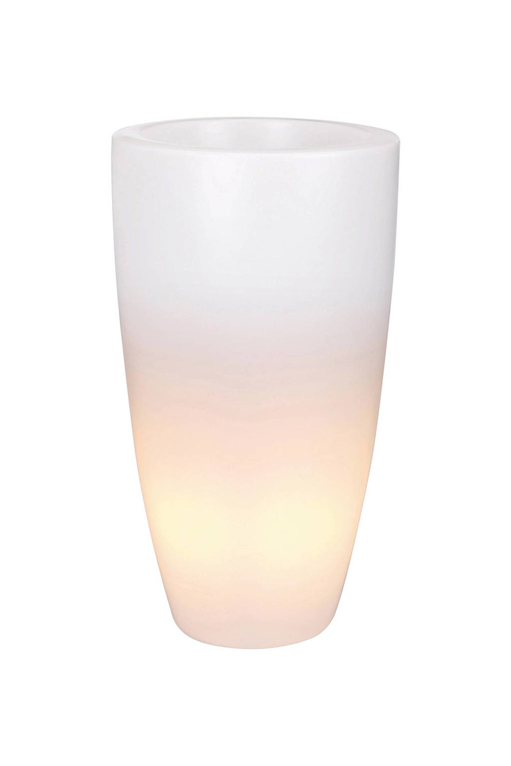 Elho bloempot Pure Soft LED (ø40 cm), Transparant