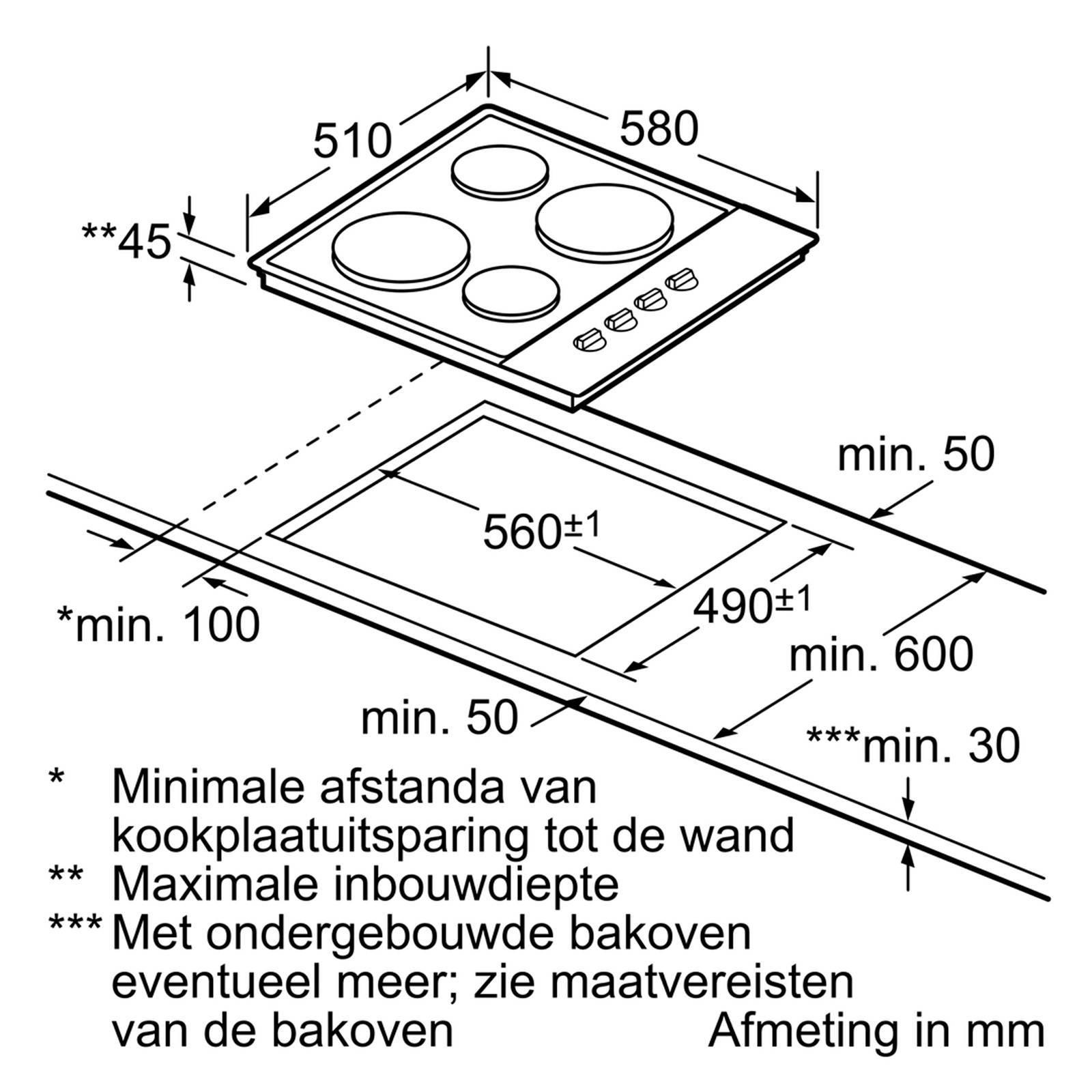 Siemens ET699CEA1 inbouw elektrische kookplaat 60 cm | wehkamp