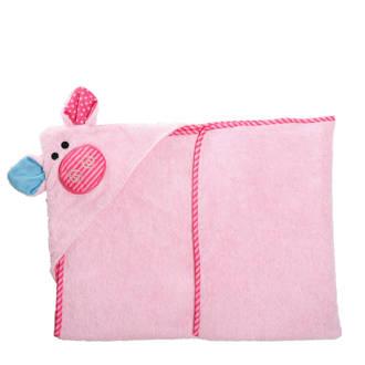 Pinky the Piglet baby badcape 75x75 cm