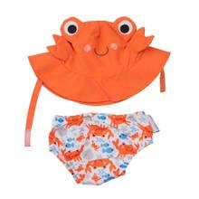 Charlie the crab zwemluier + zonnehoedje maat S