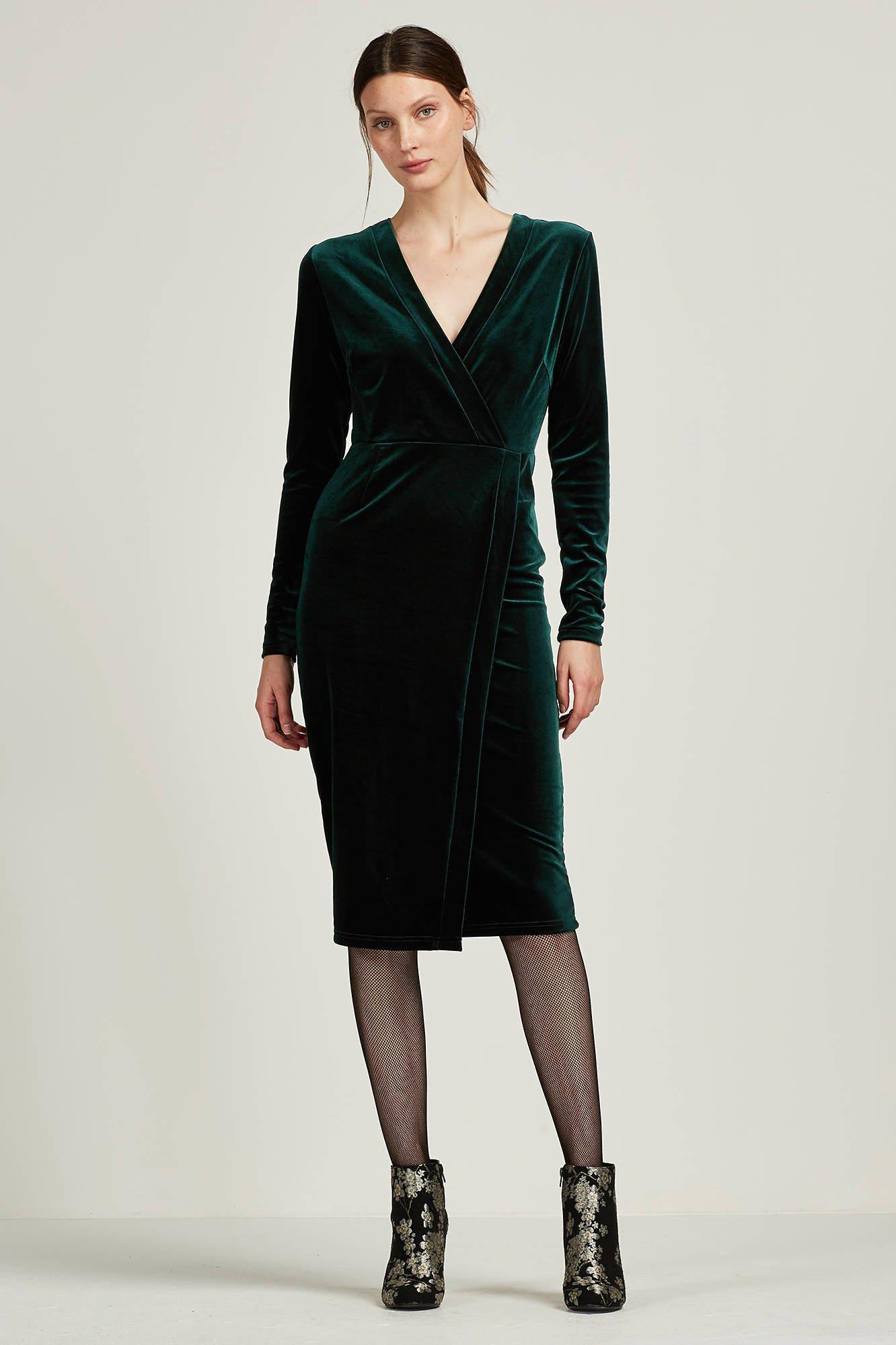 groene fluwelen jurk