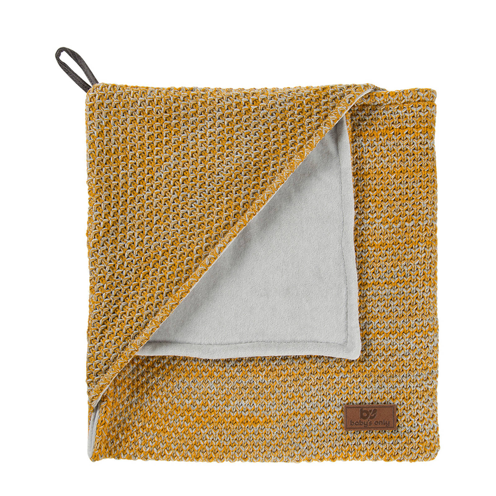 Baby's Only River chenille badcape 82x82 cm oker