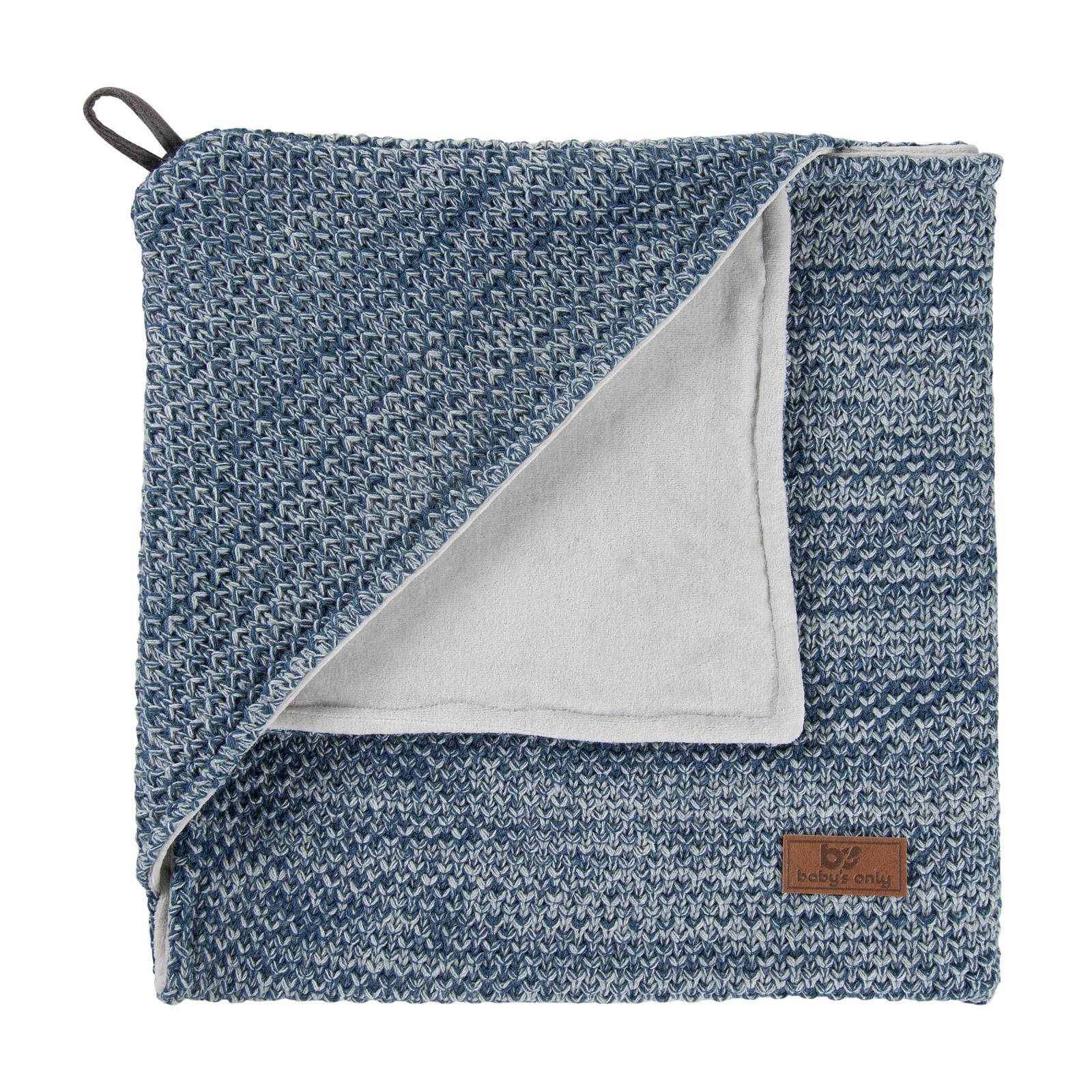 Baby's Only River chenille badcape 82x82 cm jeans