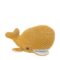 Baby's Only River walvis oker knuffel 30 cm, Oker