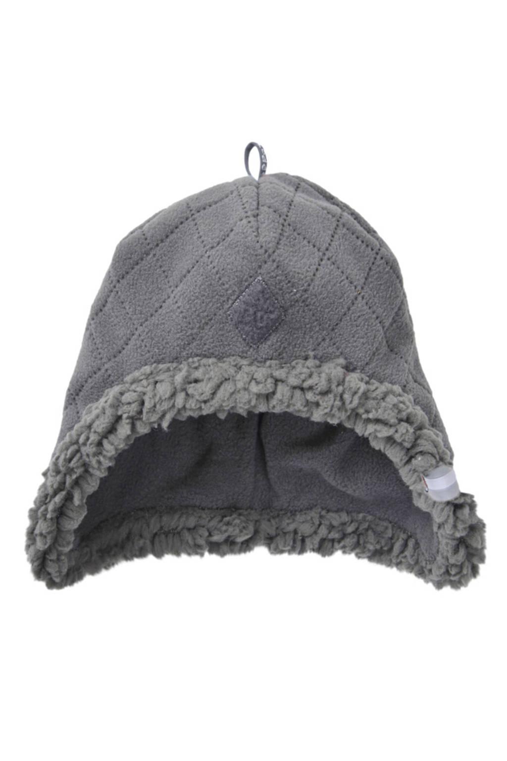 Lodger fleece mutsje Scandinavian (3-6 mnd), Coal