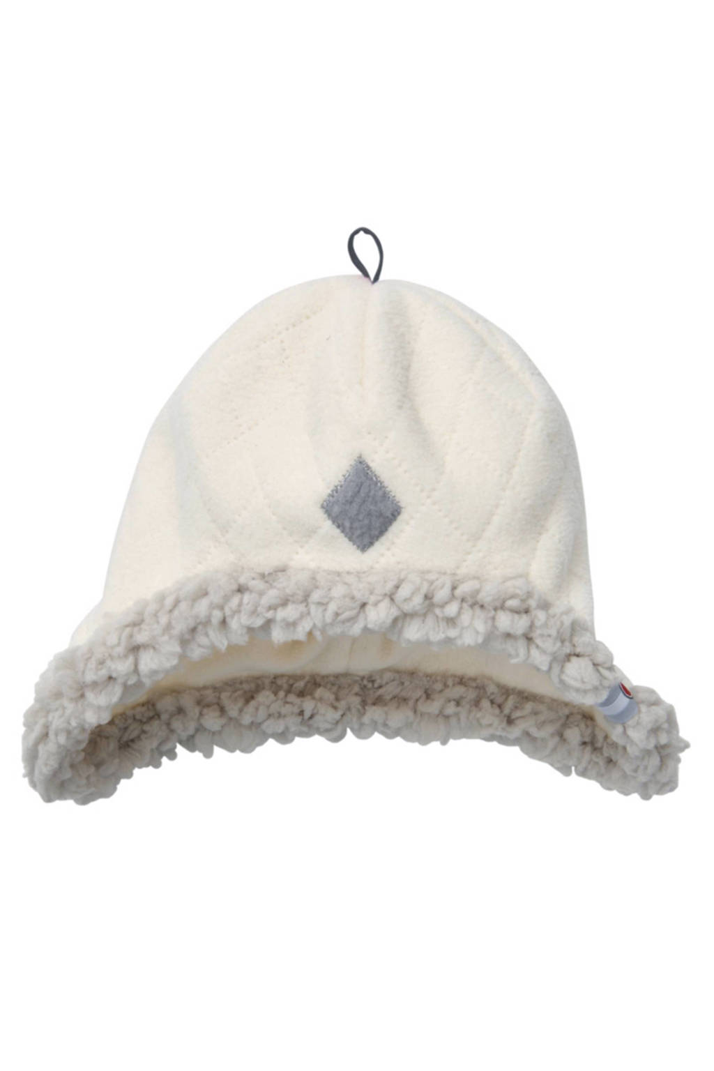 Lodger fleece mutsje Scandinavian (3-6 mnd), Off-White