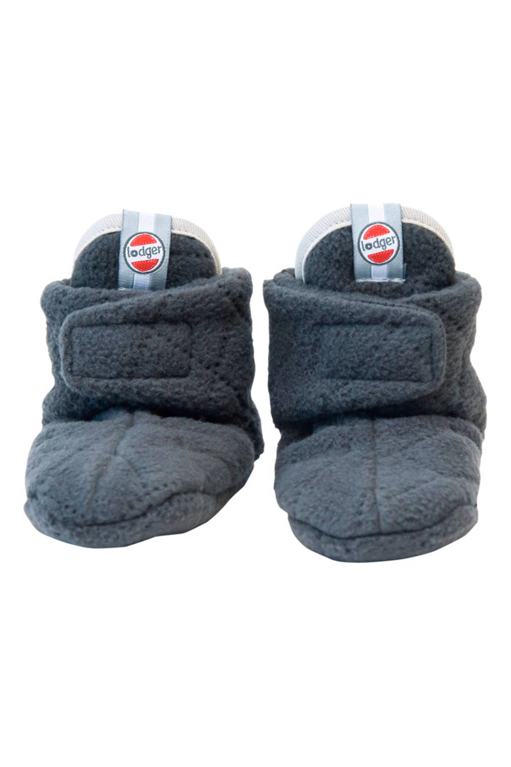 Lodger Scandinavian fleece slofjes 6-12 mnd, Coal