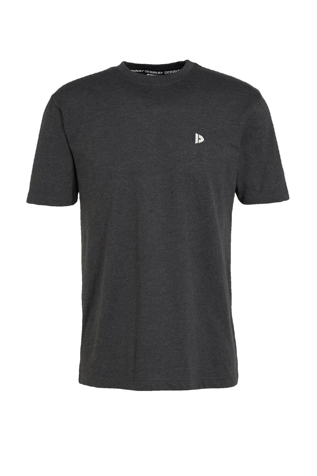 Donnay   sport t-shirt donkergrijs gemeleerd, Donkergrijs gemeleerd