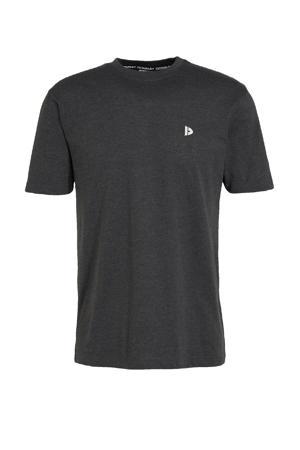 sport t-shirt donkergrijs gemeleerd