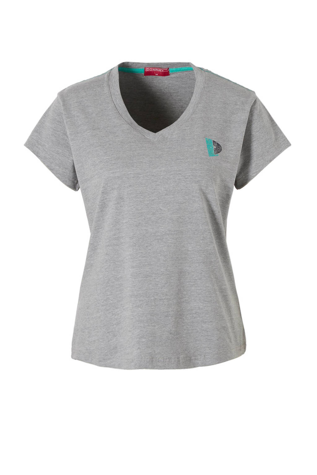 Donnay sport T-shirt grijs gemeleerd, Grijs gemeleerd