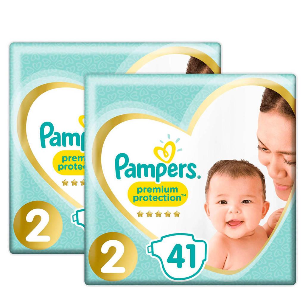 Pampers Premium Protection maat 2 (3-6 kg) 82 luiers, Maat 2+2