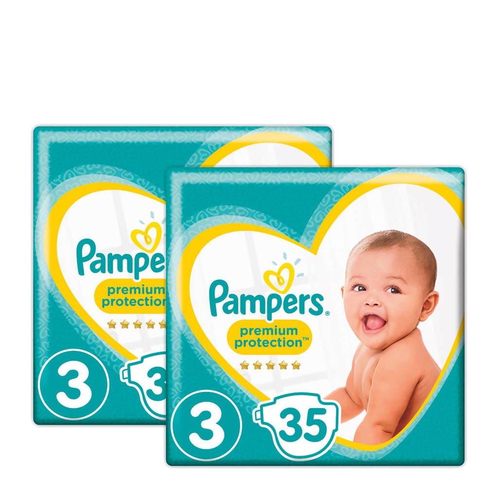 Pampers Premium Protection maat 3 (6-10 kg) 70 luiers, Maat 3+3