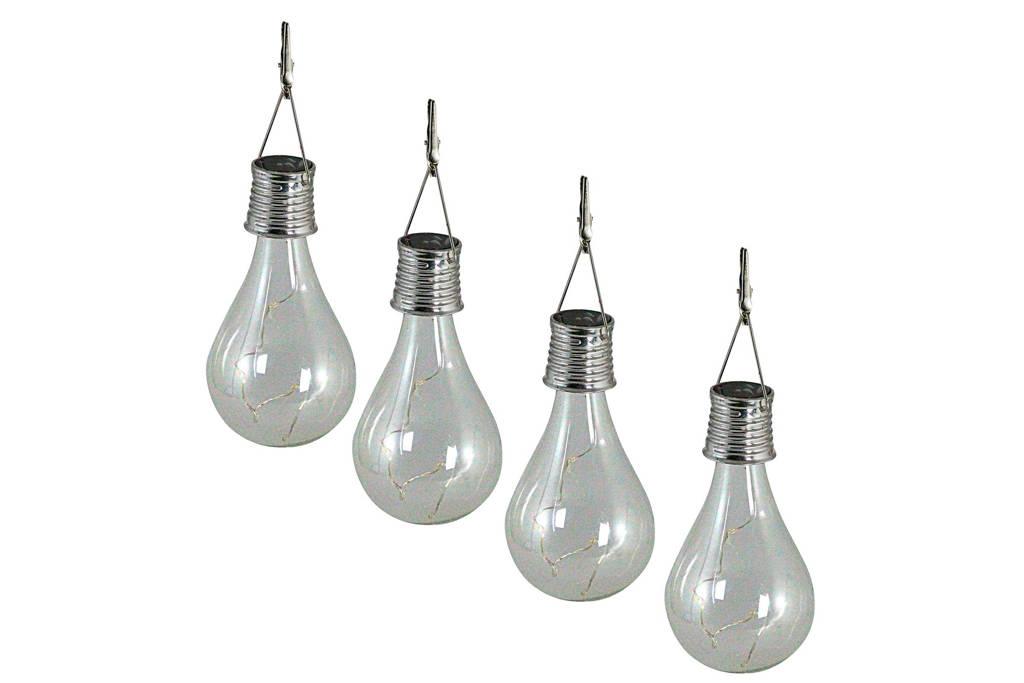 Luxform lichtsnoer Bulb (solar, set van 4), Transparant