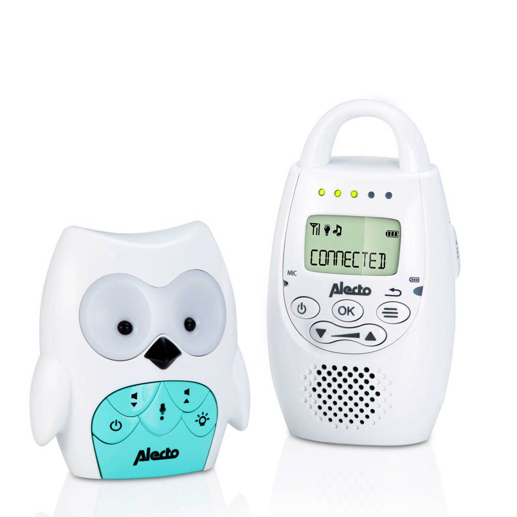 Alecto DBX-84 DECT babyfoon uil, Wit