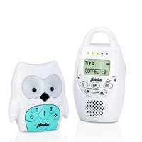 Alecto DBX-84 DECT babyfoon uil, Wit/groen