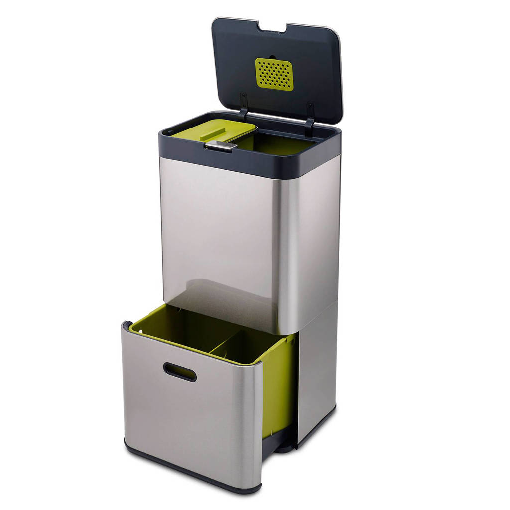 Joseph Joseph Intelligent Waste prullenbak, 60 liter, RVS