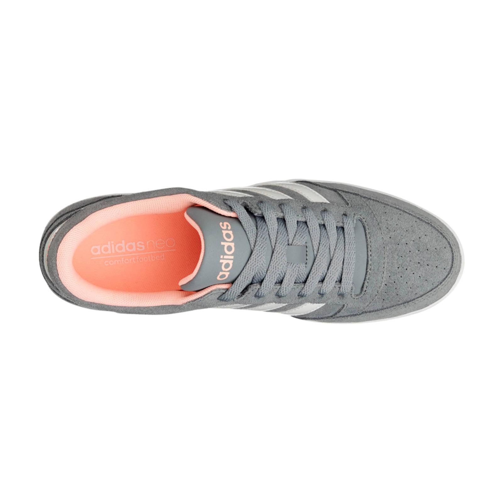 Low Sneakers Vl Grijs Hoops Wehkamp Adidas Suède 76P4xq
