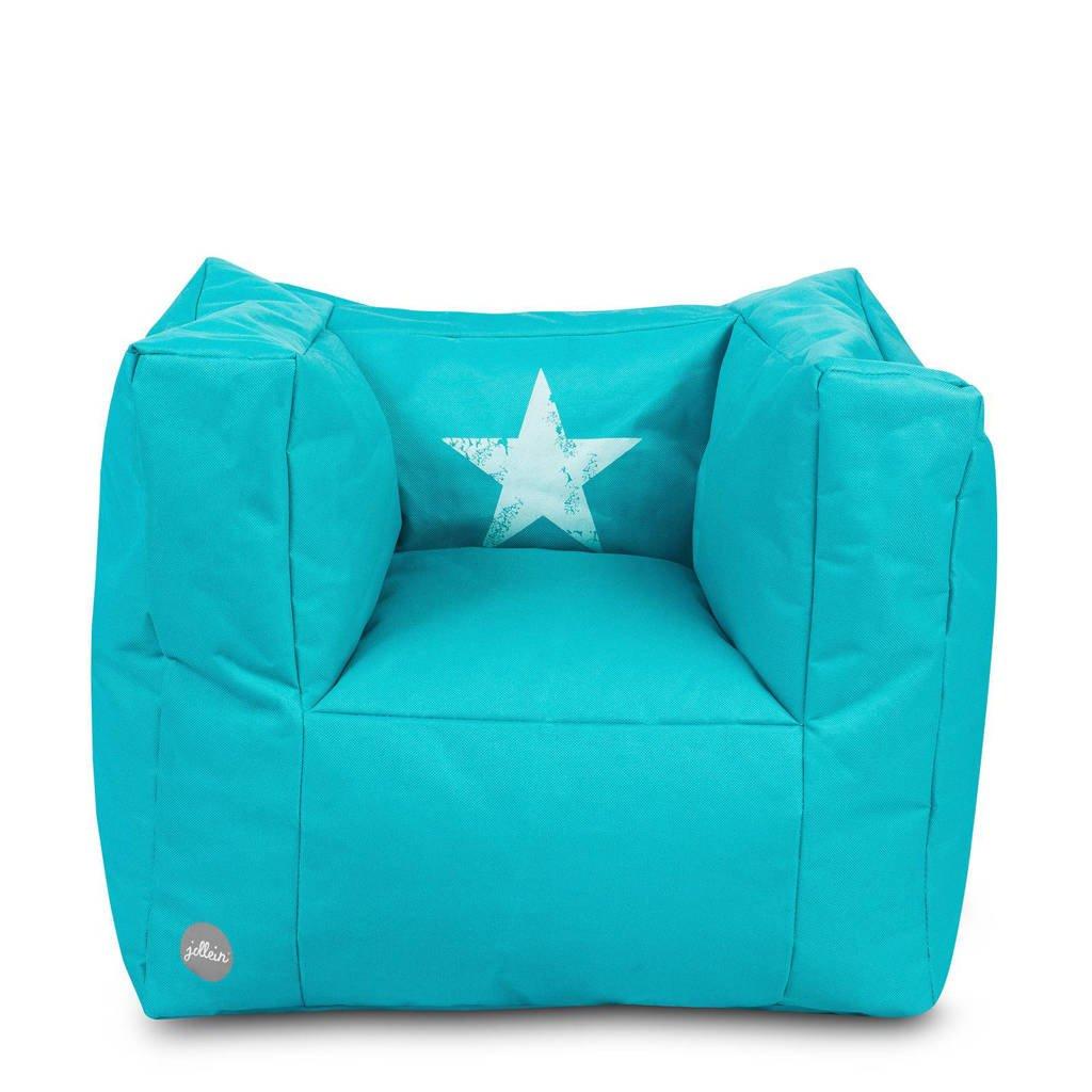 Jollein Faded Star fauteuiltje beanbag aqua, Aqua