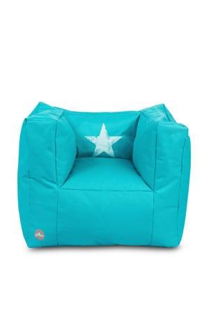 Faded Star fauteuiltje beanbag aqua