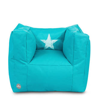 Faded Star fauteuiltje beanbag aqua