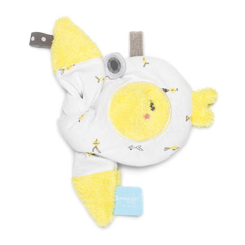 Snoozebaby rattle Finny Fish Limoncello