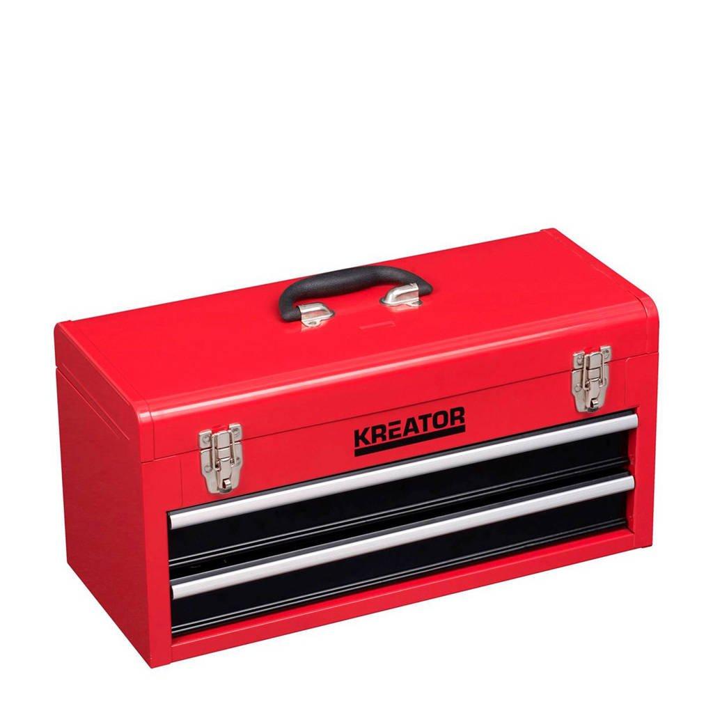 Kreator 158-delige kofferset, Rood