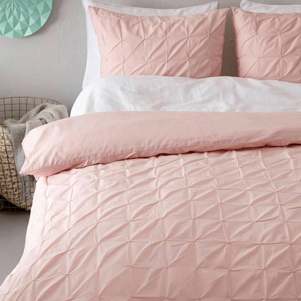 whkmp's own katoenen dekbedovertrek lits jumeaux xl, Roze, Lits-jumeaux XL (260 cm breed)