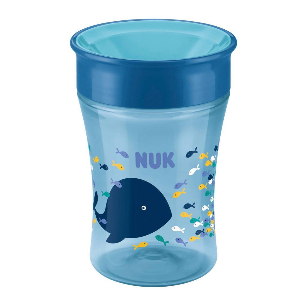 NUK Magic Cup drinkbeker 250 ml blauw, Blauw