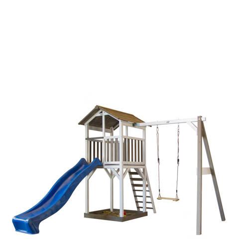 Sunny houten speelhuis Beach Tower + Schommel