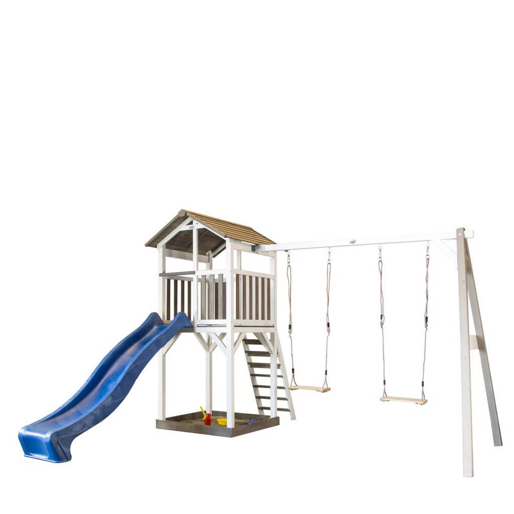 Sunny houten speeltoestel Beach Tower + dubbele schommel