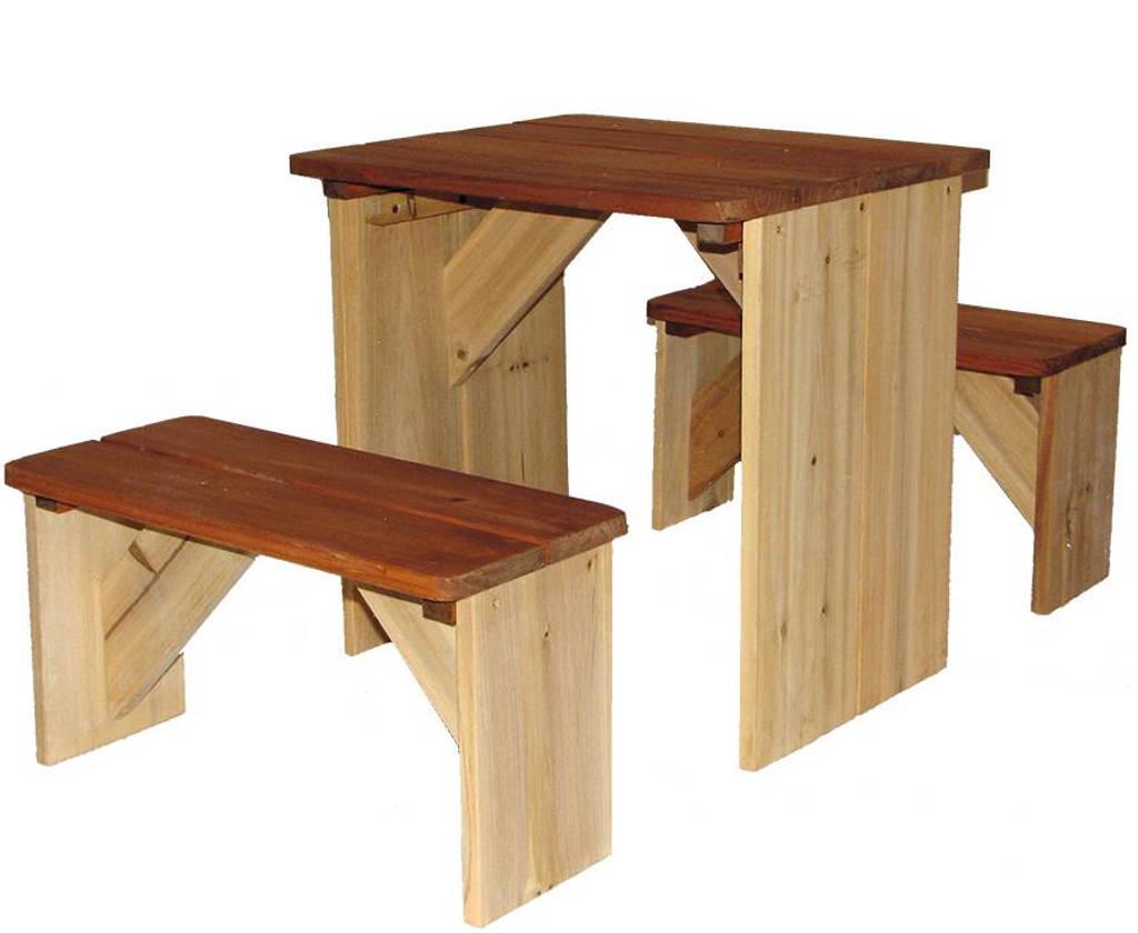 Axi picknicktafel ZidZed, Bruin