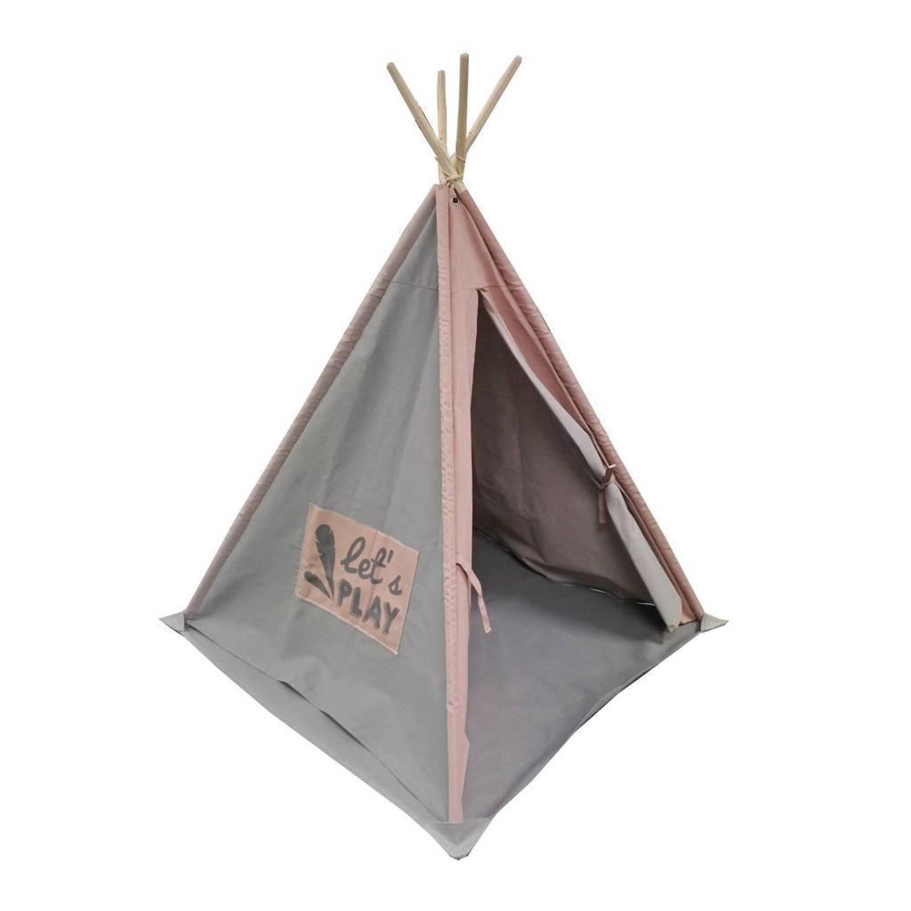 OVERSEAS tipi tent basic, Grijs/roze
